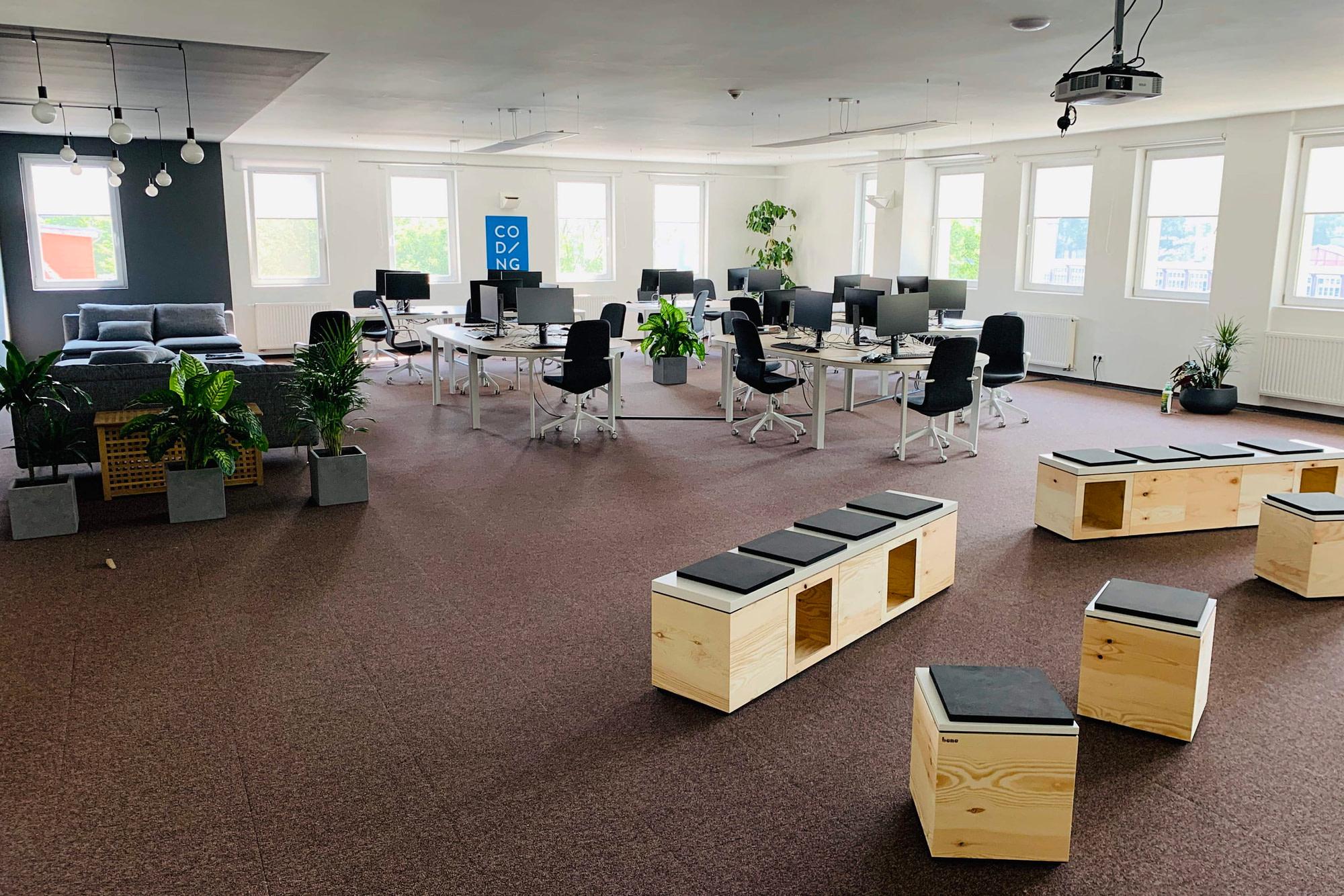 Classroom 'Atari' at Berlin campus of WBS CODING SCHOOL.