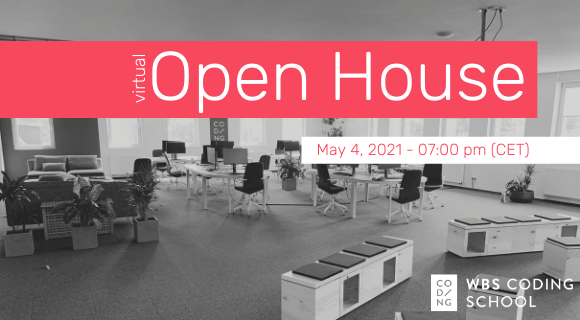 Invitation to Open House event on May 4, 2021.